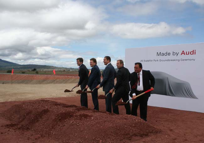 Audi factory in Mexico breaks ground on new supplier park