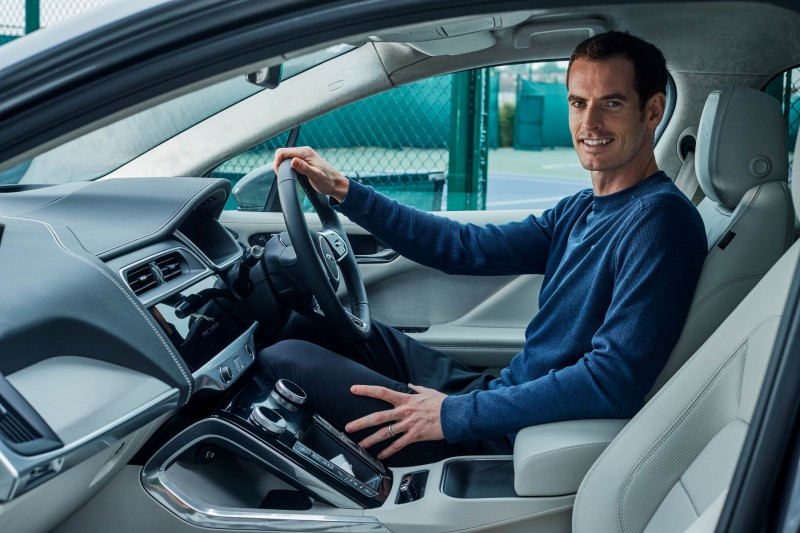 Andy Murray goes electric with Jaguar