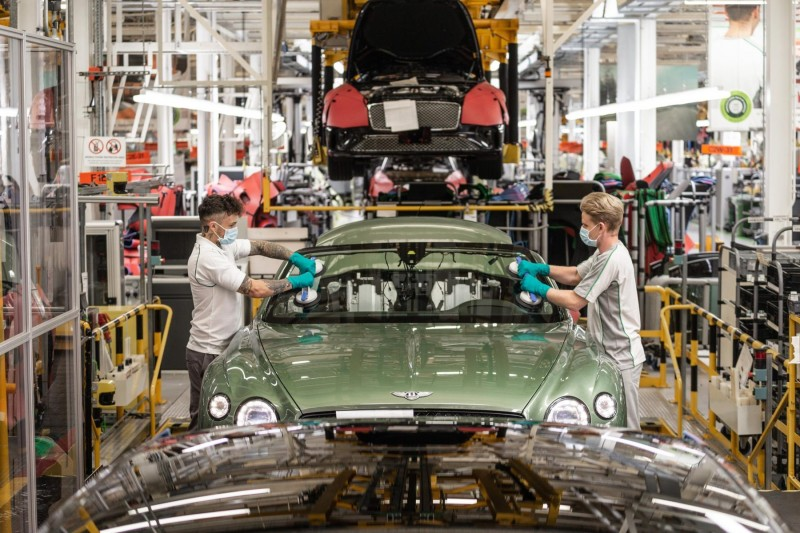 Safety first as Bentley's production lines roll again