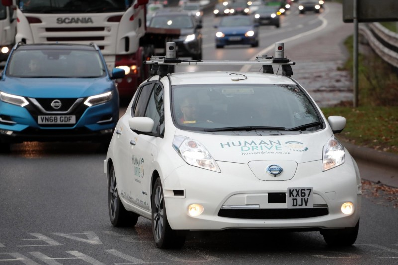 Self-driving Nissan makes UK motoring history