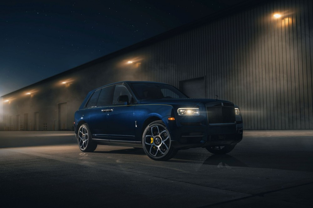 Black Badge Rolls-Royce Cullinan in racing livery delivered in California