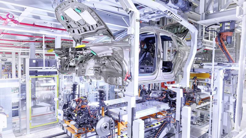 Audi begins building the Q4 E-Tron EV in historic German factory